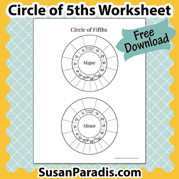 circle of fifths susan paradis piano teaching
