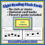 Sight reading flash cards