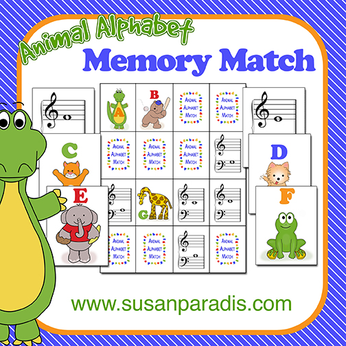 Animal Alphabet Memory Match Game